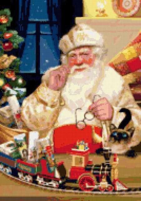 Дед Мороз и железная дорога,