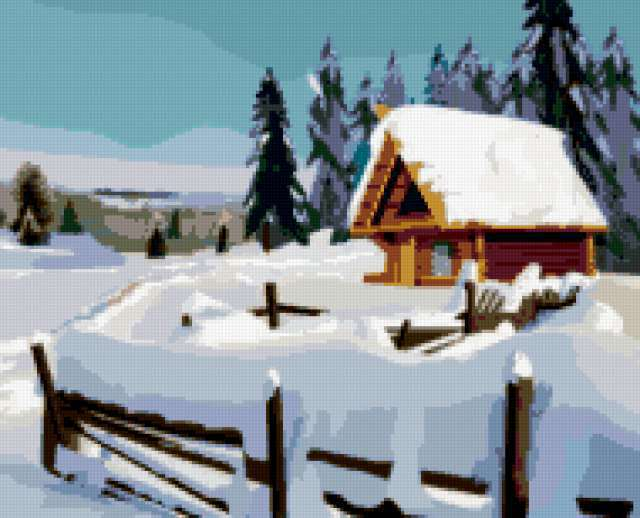 Простой зимний пейзаж