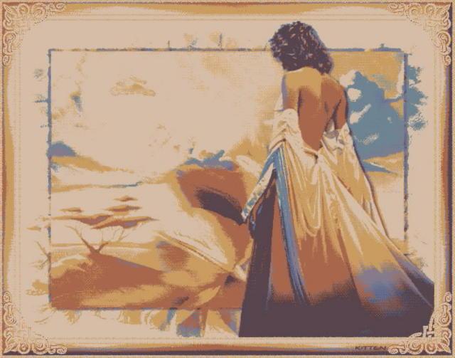 Девушка в пустыне , оригинал