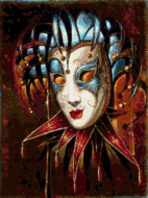 Карнавальная маска схема вышивка