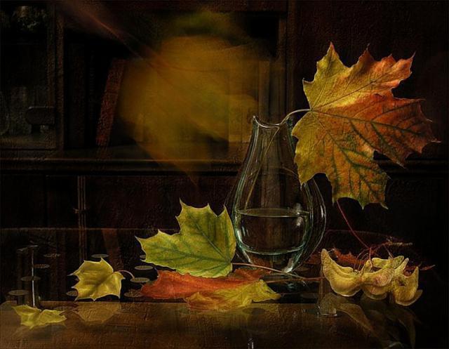Кленовые листья, листья, осень