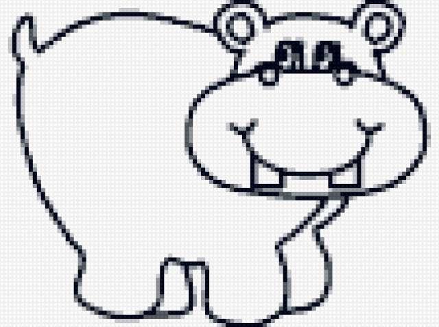 Begemot, рисунок, животное