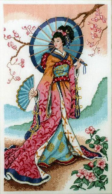 Японка с зонтиком, оригинал