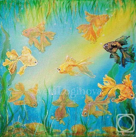 "Подушка ""Золотые рыбки"""