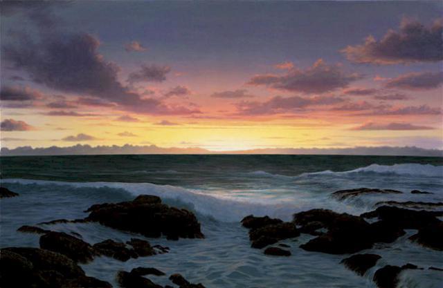 Восход, море, солнце, небо,