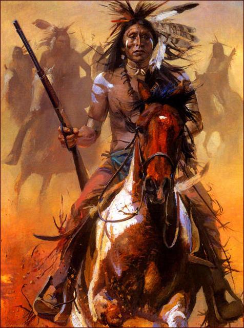 Индеец на коне, оригинал