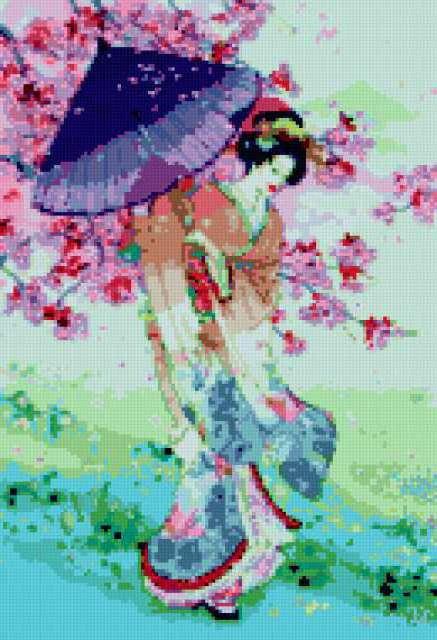 Весна в Японии, сакура, япония