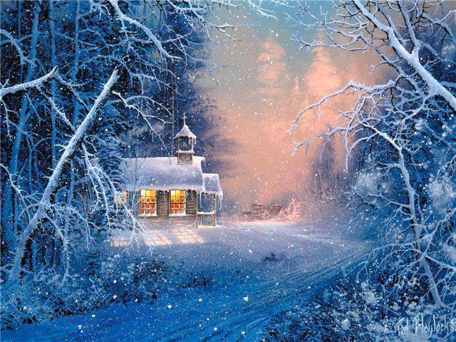 Зимняя сказка, пейзажи