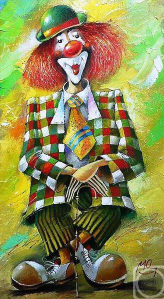 Добрый клоун, цирк, клоун,