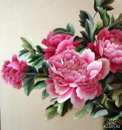 Пионы розовые, картина