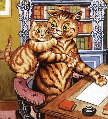 Кот учёный и котёнок в детскую