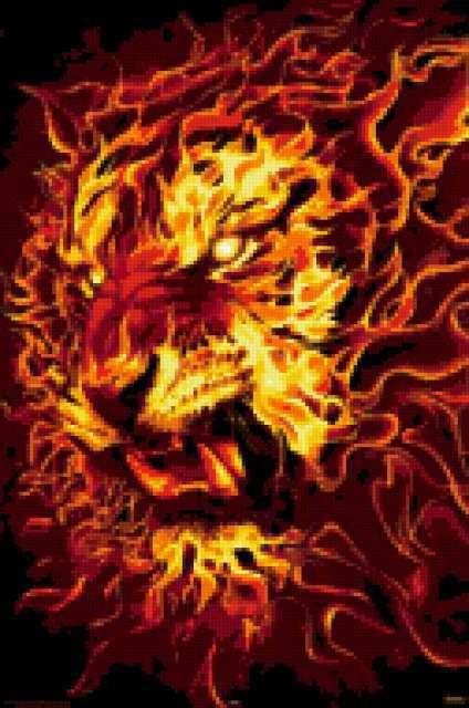 огненный тигр фото