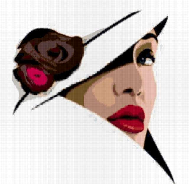 Алые губы, чёрная роза,