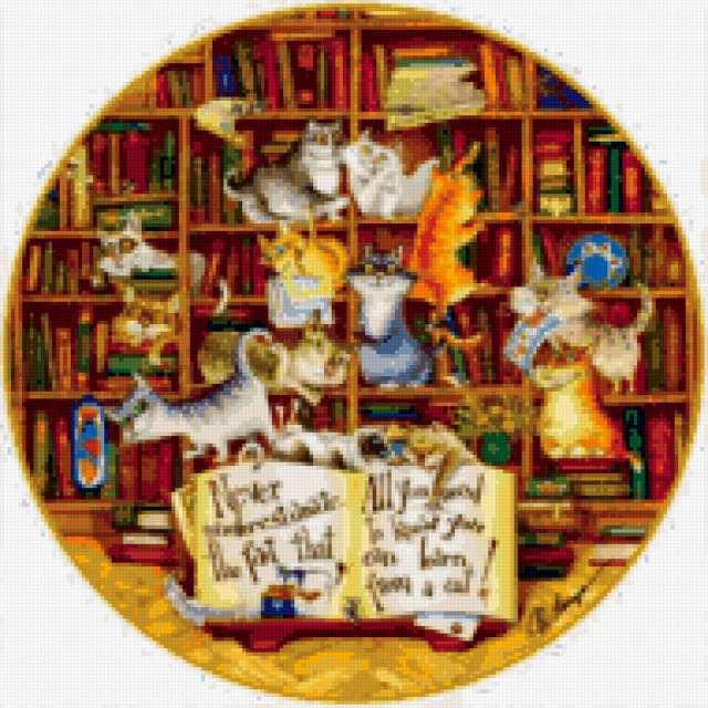 Кошки и книжки, кошки, котята,