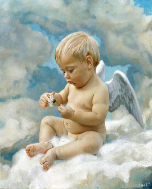 Ангел на облаке, оригинал
