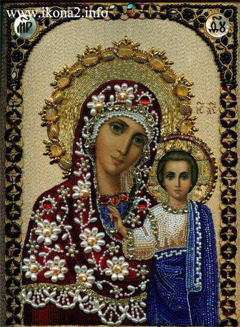 Икона Казанской Божьей матери 100