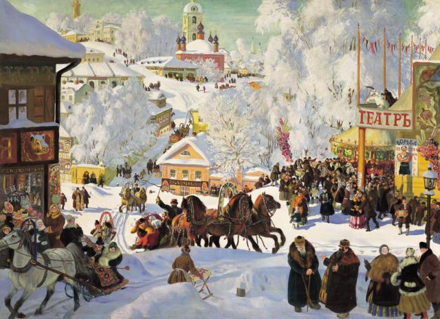 Кустодиев.Масленица.1919г.