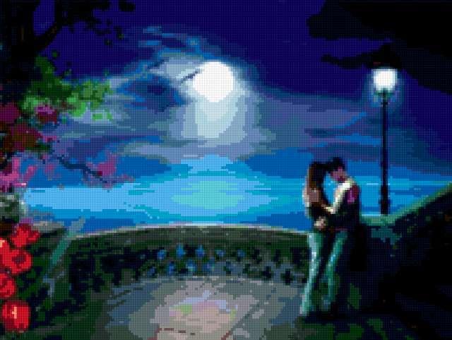 Свидание при луне, любовь,