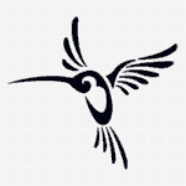 Колибри, колибри, черно-белое,