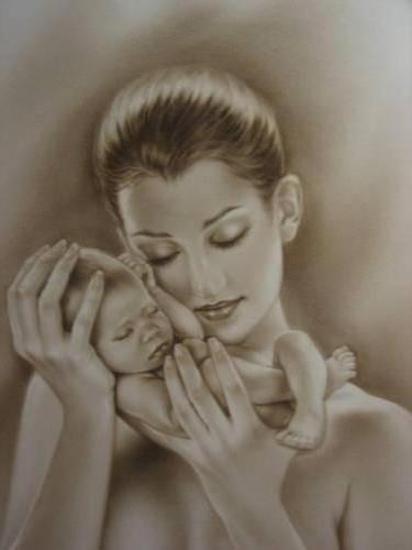 Мать и дитя 1, женщина, мать,