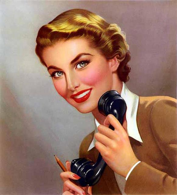 Девушка с телефоном, живопись,