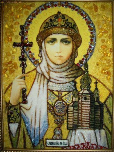 Святая Ольга, икона