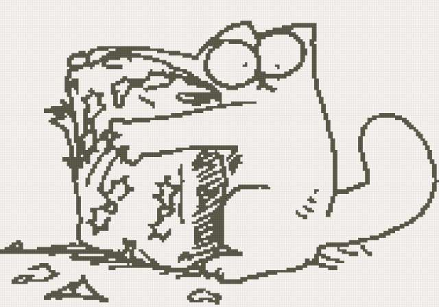 Кот саймон схема вышивки фото 76