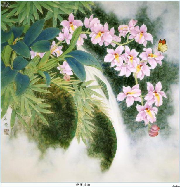 Китайские цветы, панно