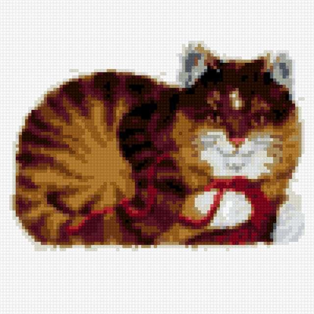 Коврик кошка с клубком,