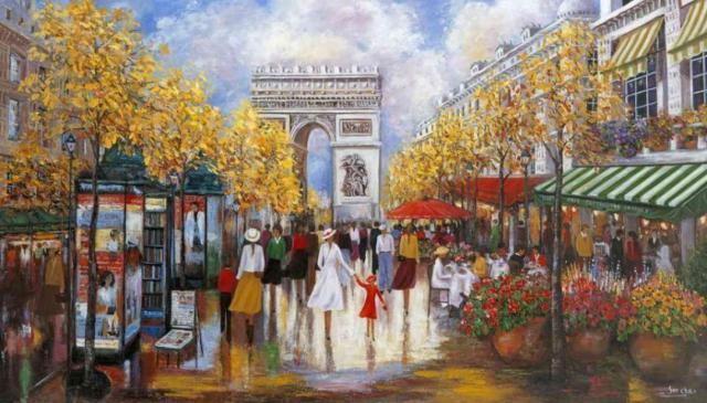 Городской пейзаж. Париж