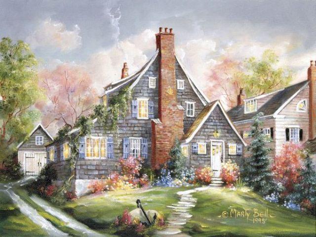 Дом в саду, оригинал