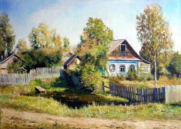 Лето в деревне, живопись,