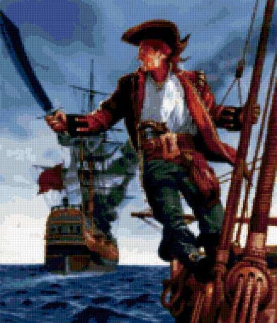Пират, пираты, корабль, море,