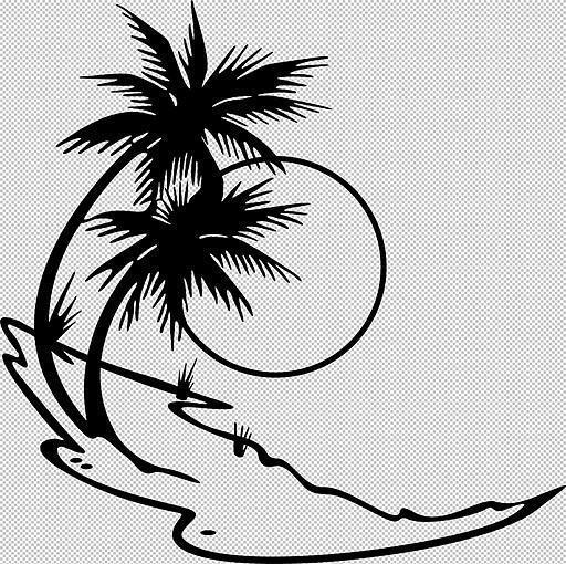 Пальмы, пляж, море, солнце,