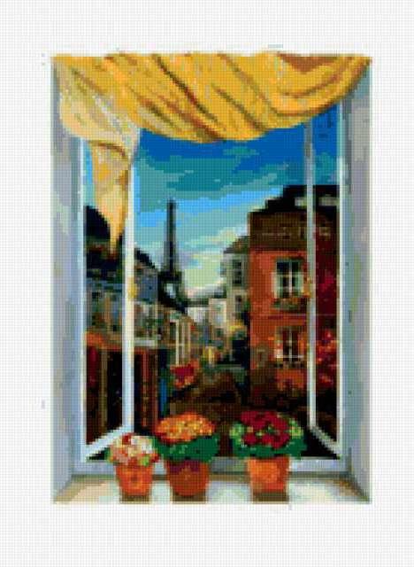 Вид из окна - Париж,