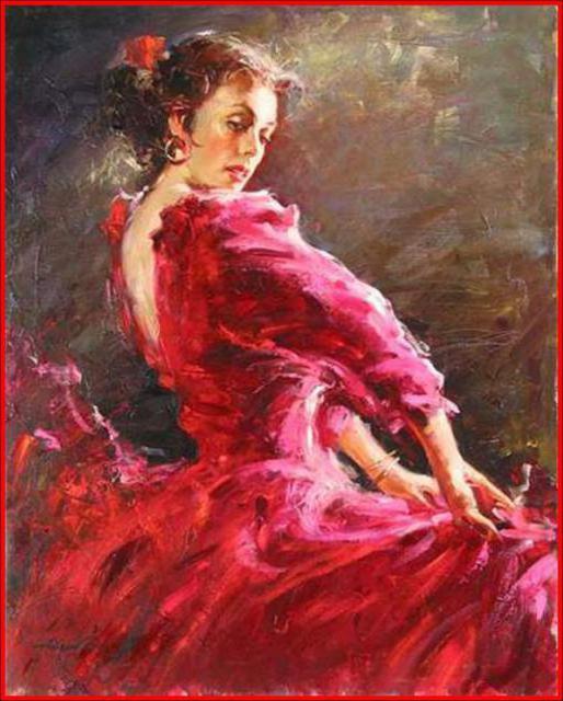 Танцовщица в красном, оригинал