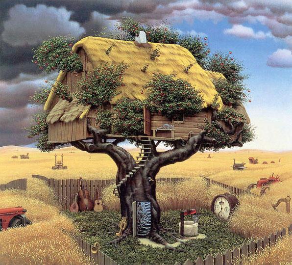 Домик на дереве, дерево,