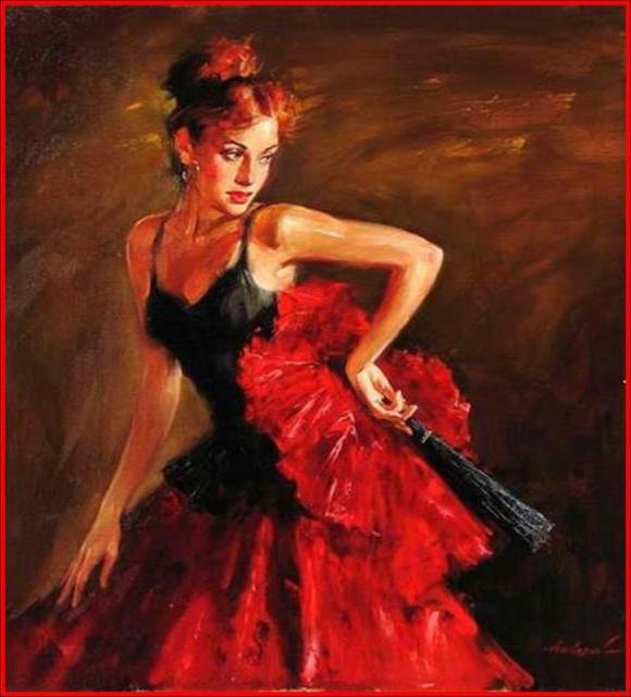 Кармен, живопись, женский