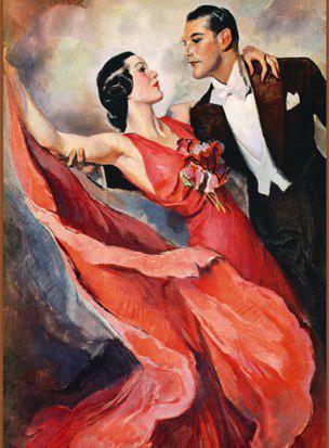 Танцовщица для вышивки