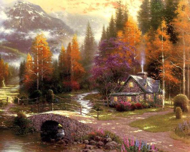 Дом в лесу, оригинал