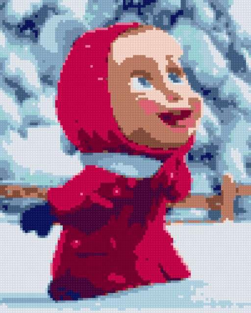 Маша и снег!, предпросмотр