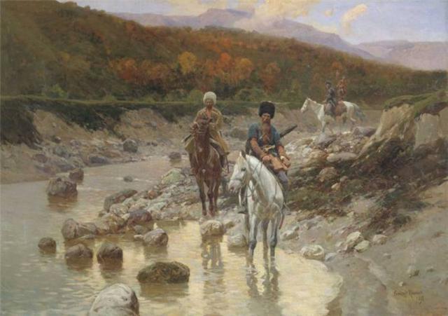 Казаки на реке, оригинал