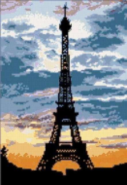 Ночной Париж, город, улица,