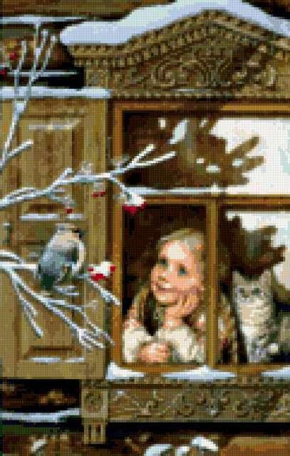 окно, девушка, женщина