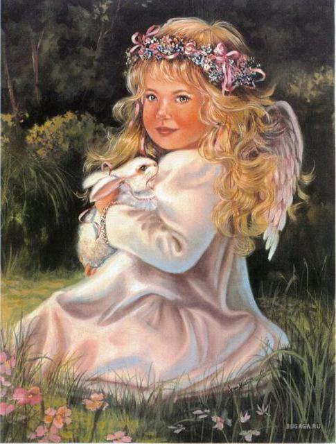 Ангел с кроликом, оригинал