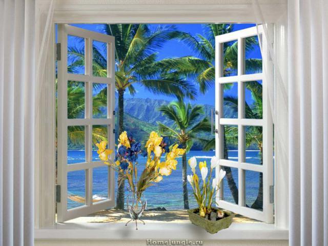 Вид из окна - океан, оригинал