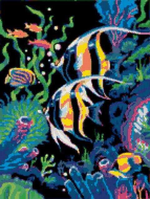 Подводный мир, море, водоросли
