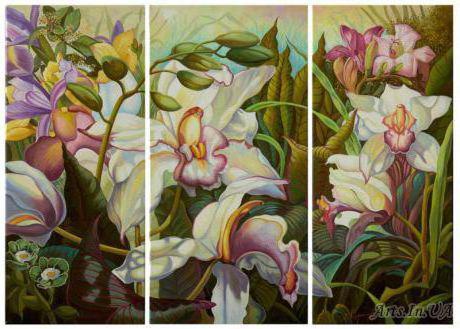 Триптих Орхидеи, триптих