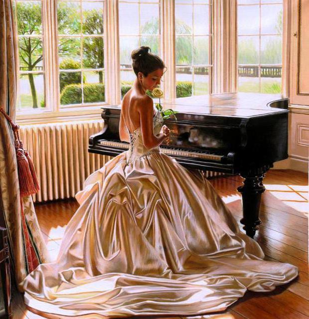 платье, барашня, музыка,