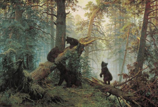 Шишкин Медведи в лесу,